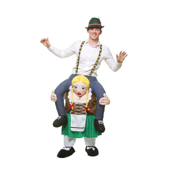 Adults Carry Me Bavarian Oktoberfest Girl Costume German Beer Festival Fancy Dress Cosplay